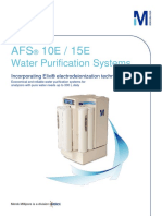 AFS 10E/15E Water Purification Systems