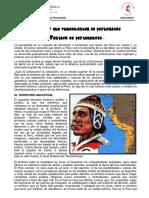 Ficha Informativa - Aspectos Que Fundamentan La Peruanidad 1ro Sec