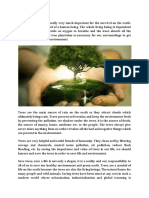 Essay on Save Trees