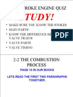 4 Stroke Notes & Parts Days After Quiz