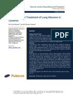 Clindamycin in Treatment of Lung Abscess Inchildren