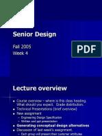 Senior Design Lecture4