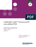 Universal RT MicroRNA PCR Manual