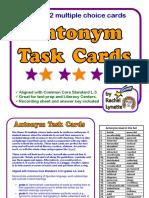 Antonym Task Cards for Grades 4-6
