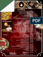 menu restaurante la fogata cajica
