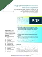 The Interplay Between Pharmacokinetics and Pharmacodynamics