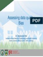 Assessing Data Quality - Bias [SR]