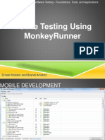 Monkey Runner Testing Mobile app