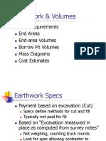 Earthwork & Volumes PPT