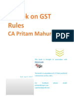 Handbook on GST Rules - CA Pritam Mahure