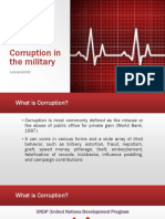 Corruption in the Military (for Report)