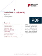 Unit Guide ENGG100 2014 S1 Day - Introduction to Engineering