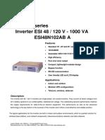 Leaflet ESI 48 120V 1000VA En