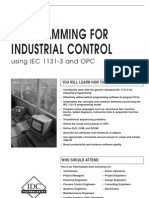 Programming for Industrial Control Using ( IEC 1131-3 and OPC )