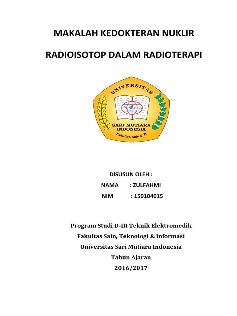 350669305 Radioisotop Dalam Radioterapi Docx