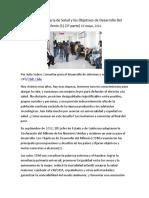 Atención Primaria de Salud y Los Objetivos de Desarrollo Del Milenio 2012