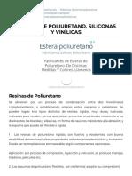 Resinas de Poliuretano, Siliconas y Vinílicas _ Textos Científicos