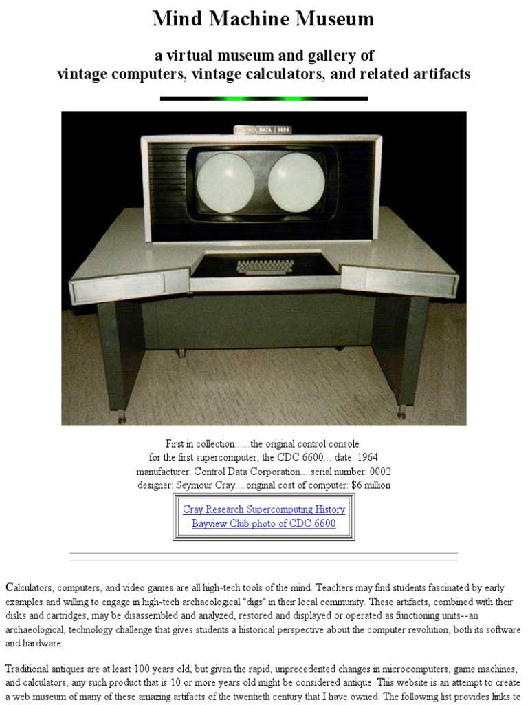 Mind Machine Museum | Calculator | Microcomputers