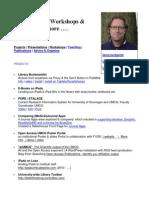 Presentations, Workshops, Projects and more ...   A.J.P. van den Brekel (Guus)