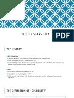 section 504 vs idea