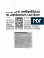 Judge Loya Death Politicised