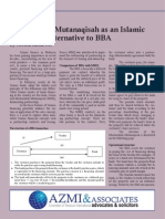 Musharakah Mutanaqisah as an Islamic Financing Alternative to BBA
