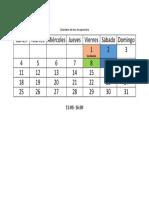 Calendario Del Mes de Septiembre