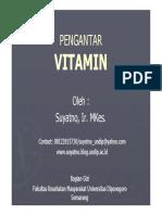 Ilmu Gizi Pengantar Vitamin