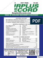 FEBRUARY 2018 Surplus Record Machinery & Equipment Directory