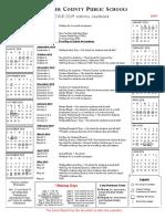 School Calendar 2018-2019 Draft