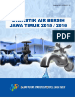 Statistik Air Bersih Jawa Timur 2015 2016
