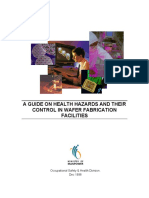 A Guide on Health Hazards & Their Control in Wafer Fabrication Facilities