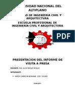 informe IRRIGACIONES BEU
