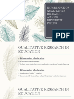 Importance of Qualitative Research Across Different Fields