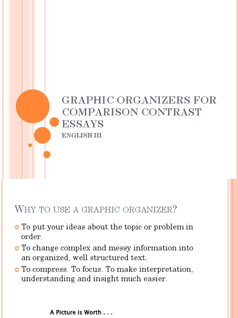 graphic organizers for comparison contrast essays 2 (1) | orange