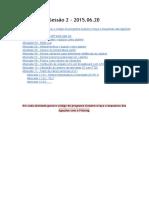 Atividades Sessão 2 - 2015.06.20