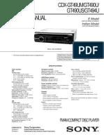 Service Manual Car Audio CDX-GT49UM  GT490U GT490US GT494U