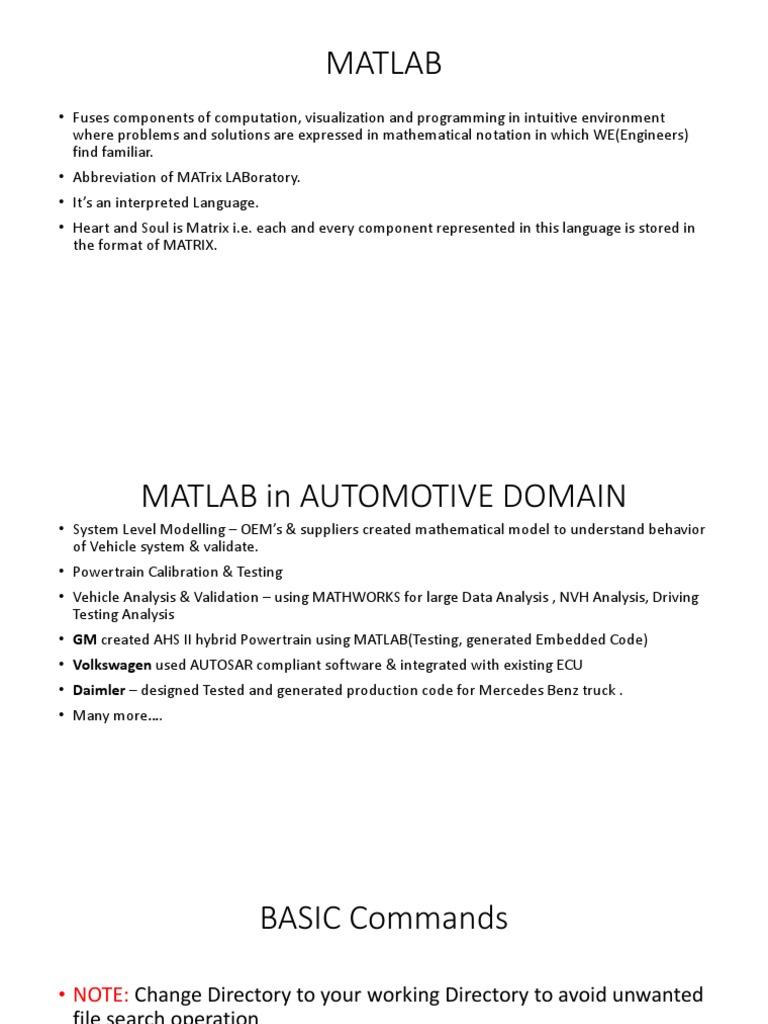MATLAB_ppt | Matlab | Control Flow
