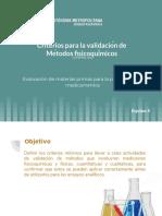 Criterios de validación de métodos