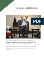 Vacancia Van a Ser Terribles Para El Perú