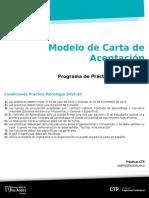 Modelo de Carta de Aceptacion Pscologia