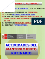EXPOSICIÓN MANTENIMIENTO RUTINARIO EN CAMINOS VECINALES