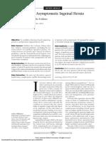 Management of Asymptomatic Inguinal Hernia