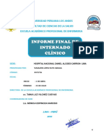 Informe Final -Clinico Callao - 2015 Ruth Tamazon