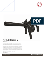 Kriss Super V Papercraft 1:1