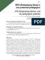 RPG (Roleplaying Game) e Seu Potencial Pedagógico