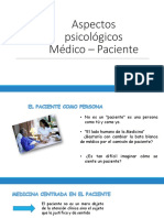 Aspectos Psicológicos Médico – Paciente