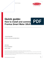 SE TEA Quick Guide How to Install and Commission a Fronius Smart Meter 50kA-3 en AU