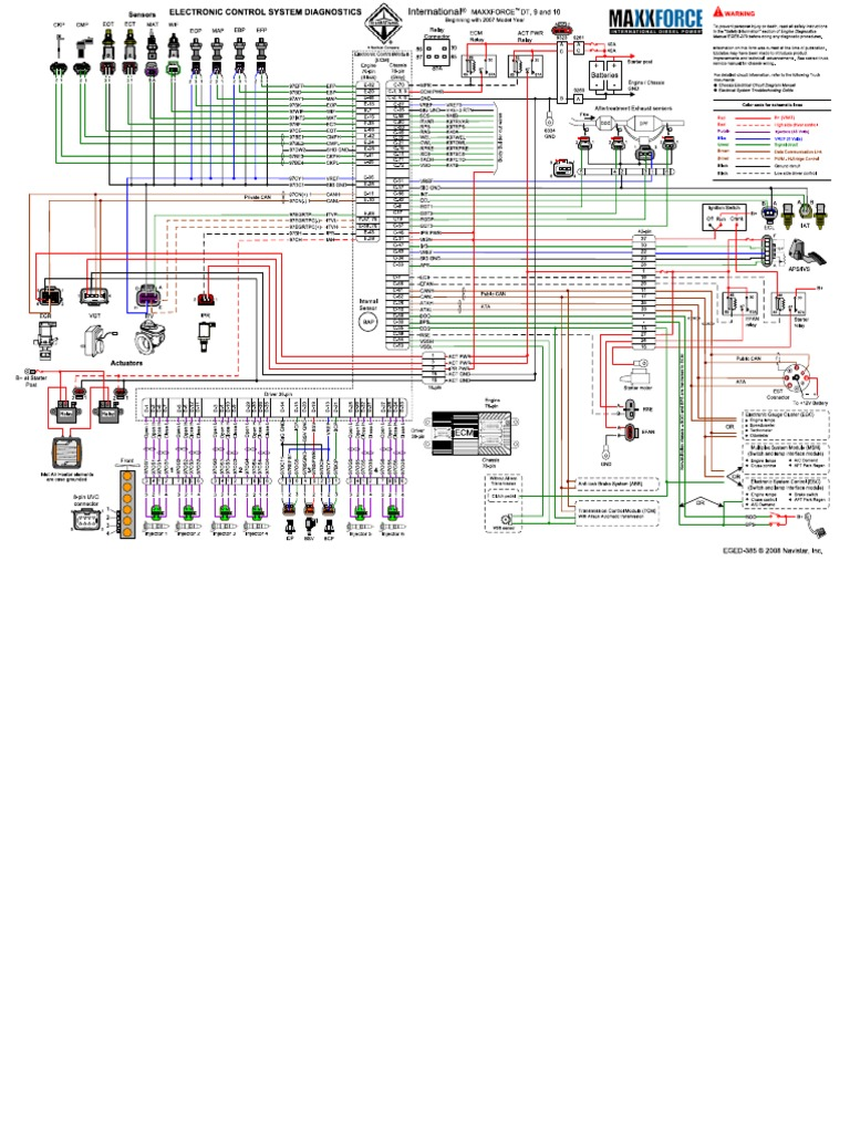 Maxxforce DT 9 10 Wiring DiagramScribd
