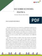 Rousseau, Jean-Jacques - Discurso Sobre Economía Política